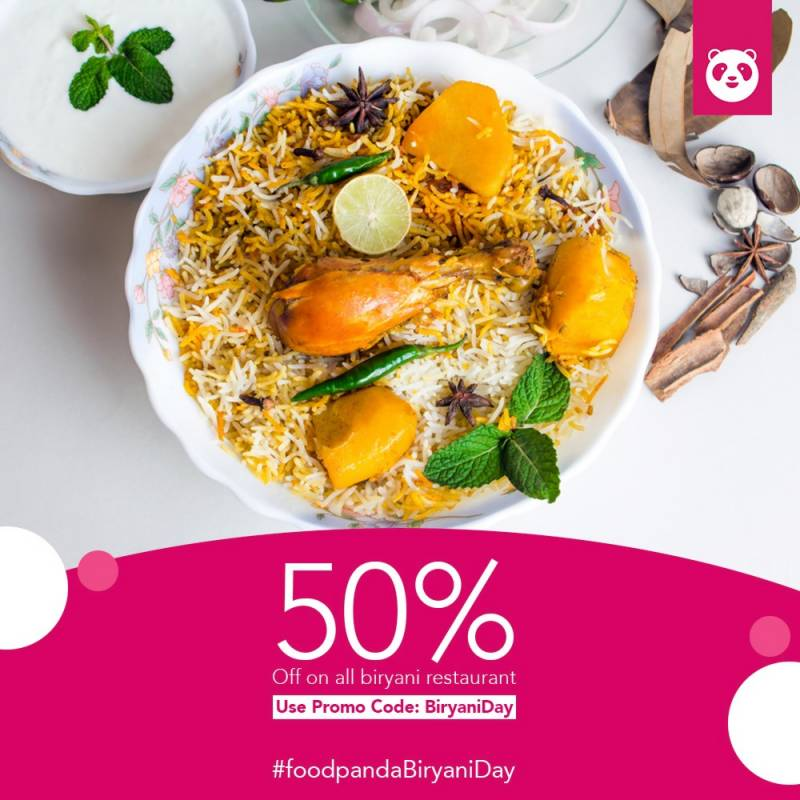 foodpanda celebrates Biryani Day on the last Friday of July - and it's about time!