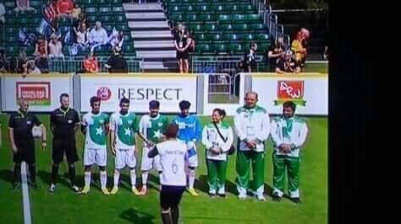 Pakistan defeats Israel in a street Soccer World Cup Match in Wales