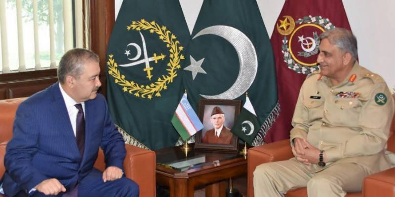 Uzbekistan's Security Services chairman calls on Pakistan Army chief at GHQ