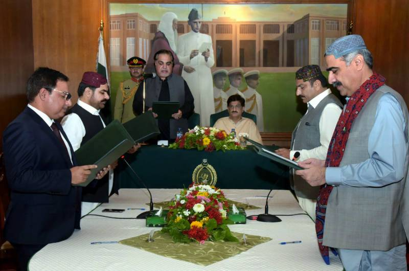 Four new ministers, two advisers inducted in Sindh cabinet