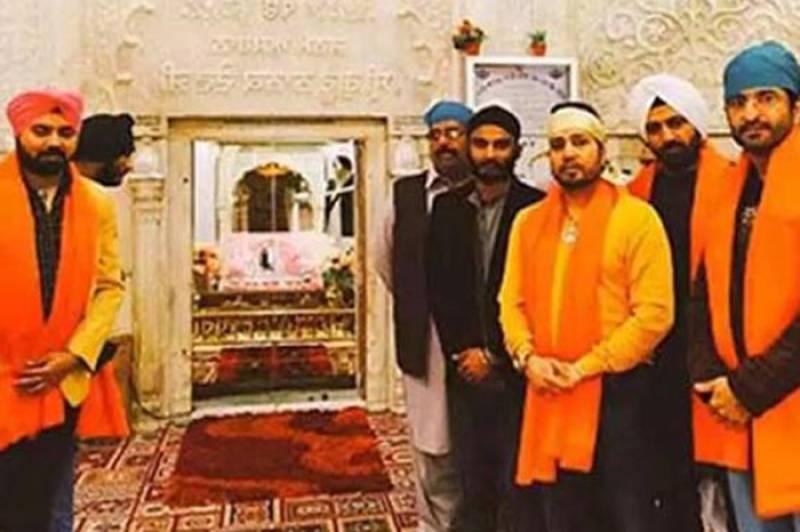 Mika Singh performs religious rituals at Nankana Sahib