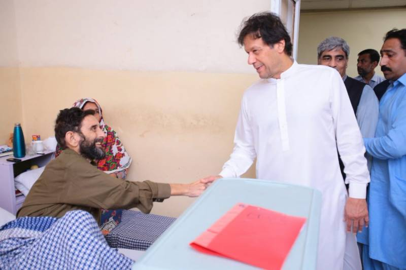 PM Imran visits PIMS on Eid to inquire after patients