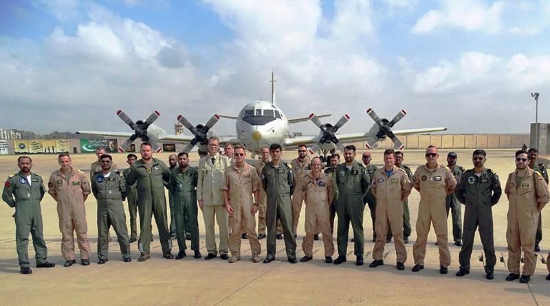 German Navy aircraft visits PNS Mehran Naval base