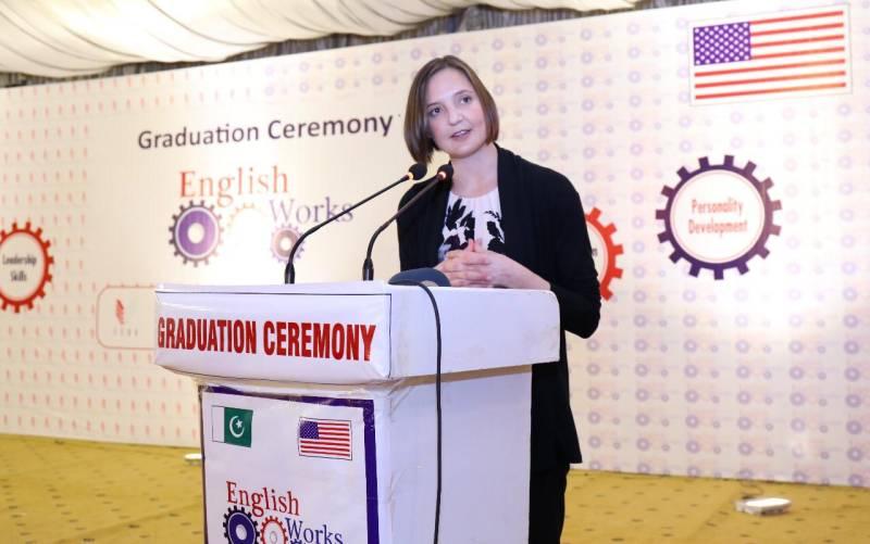 US Consul General Crenwelge appreciates Multan students for grooming English language skills