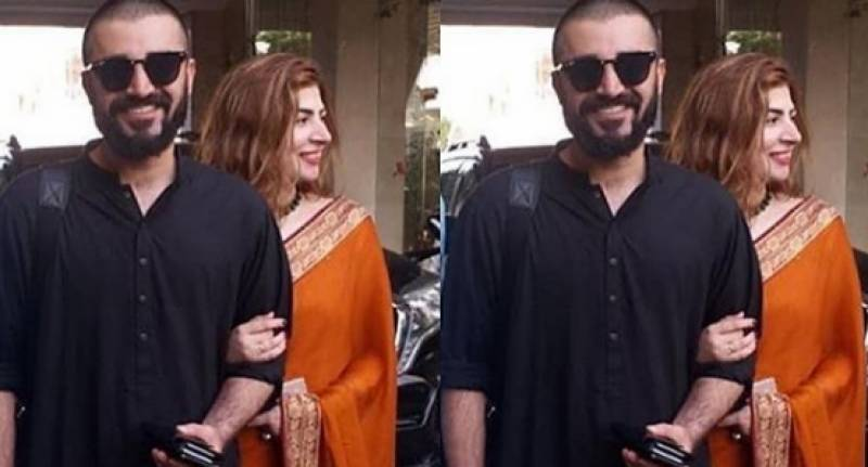 Hamza Ali Abbasi and Naimal Khawar's first public appearance after their wedding