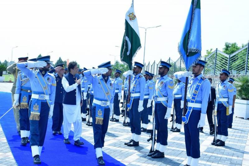 PM Imran lauds PAF in maiden Air Headquarters visit