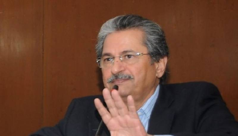 Madrassa students to appear in all Federal Board exams: Shafqat Mehmood