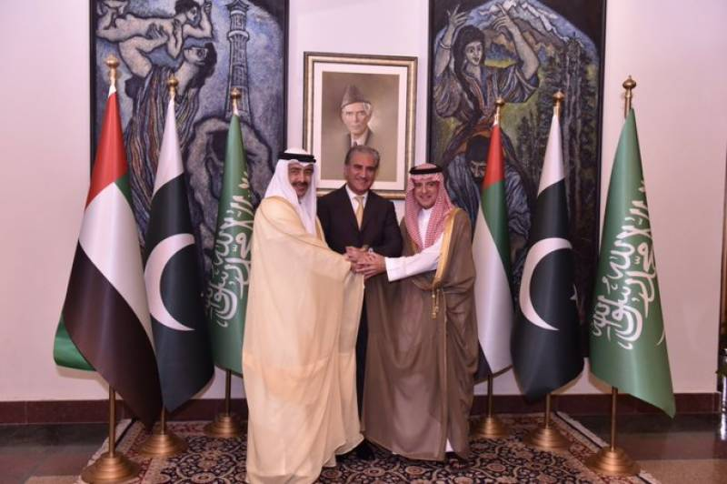 Saudi Arabia, UAE FMs arrive in Islamabad to discuss Occupied Kashmir crisis