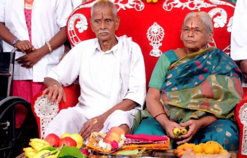 73 years old Indian woman blessed with twin baby girls