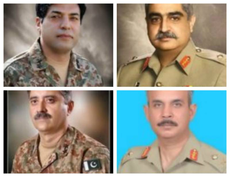 Four Pakistan Army officers promoted to rank of Lt. General: ISPR