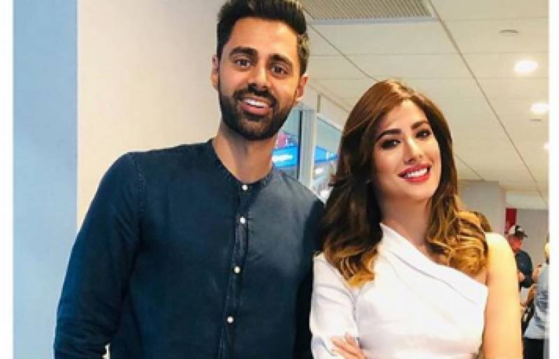 Mehwish Hayat strikes a pose with Hasan Minhaj at the US Open, and we're loving it!