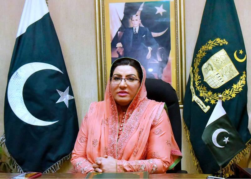 Opposition conspiring to make Maulana Fazlur Rehman scapegoat: Dr Firdous