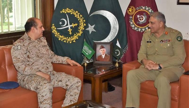 Saudi military adviser calls on Pakistan Army chief at GHQ