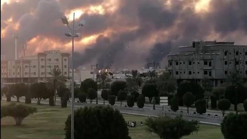 Drone attacks cause massive fire at two Saudi oil facilities