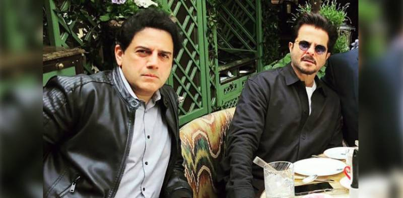 Zoheb Hassan meets Anil Kapoor in London