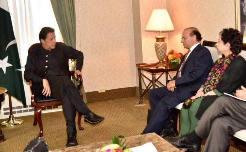 Founder Kashmir Study Group calls on PM Imran in NY, discuss situation in IOJ&K