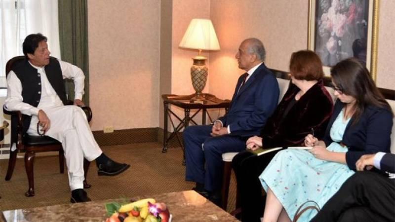 Zalmay Khalilzad briefs PM Imran on US-Taliban peace talks in New York
