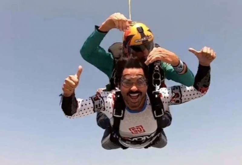 Humayun Saeed takes a leap of faith with daring skydive