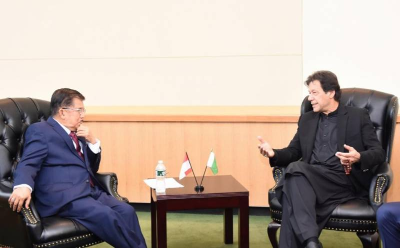 PM Imran discusses Kashmir crisis with Indonesia's VP during UNGA engagements