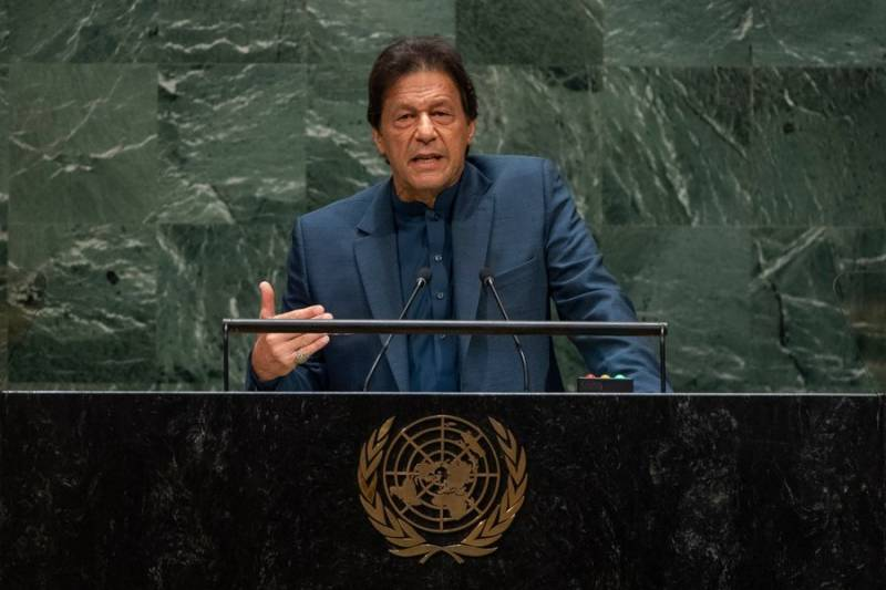 UNGA 74: PM Imran portrays Kashmir crisis in entirety before UN, blasts India for whipping up war hysteria