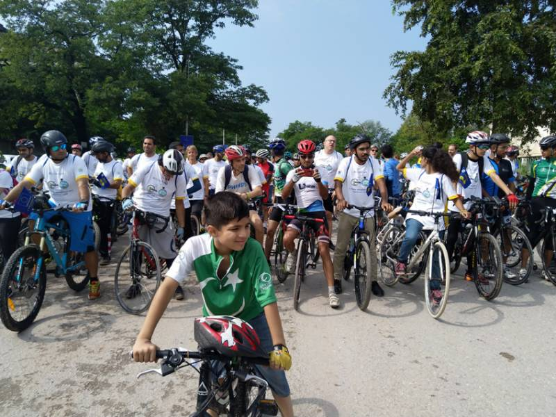 Pedalling for action on climate change