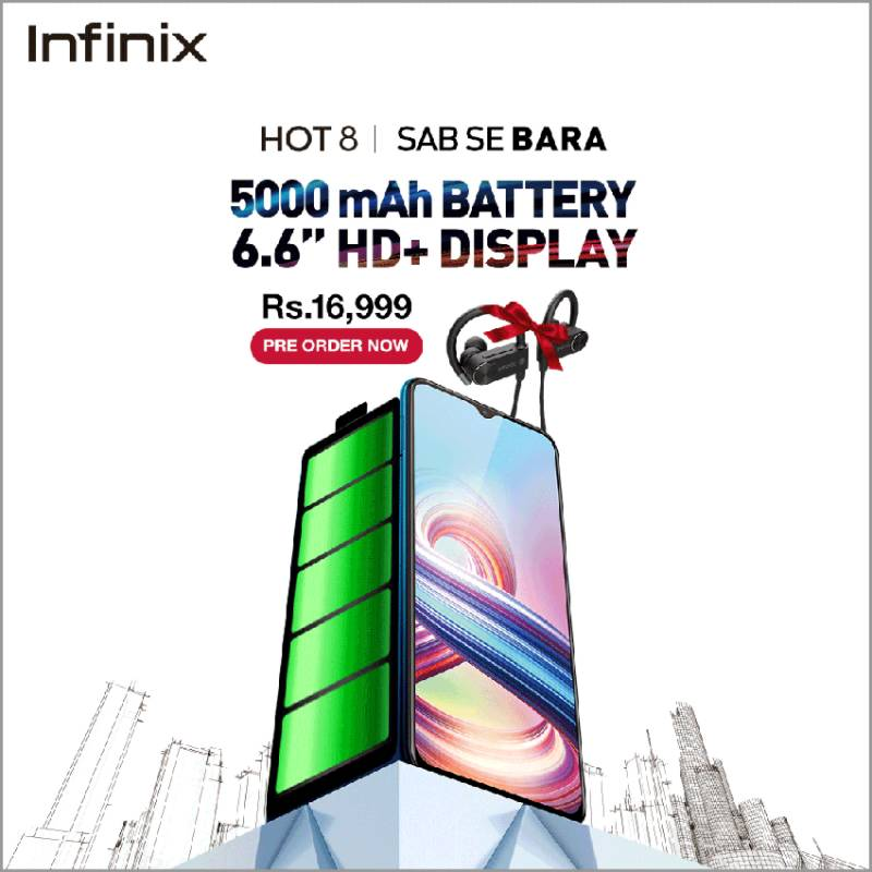 Infinix HOT 8 2+32GB with 5000mAh battery is now available for pre-order