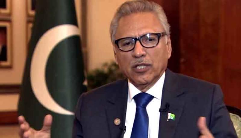 Pakistan wants peace in region: President Arif Alvi