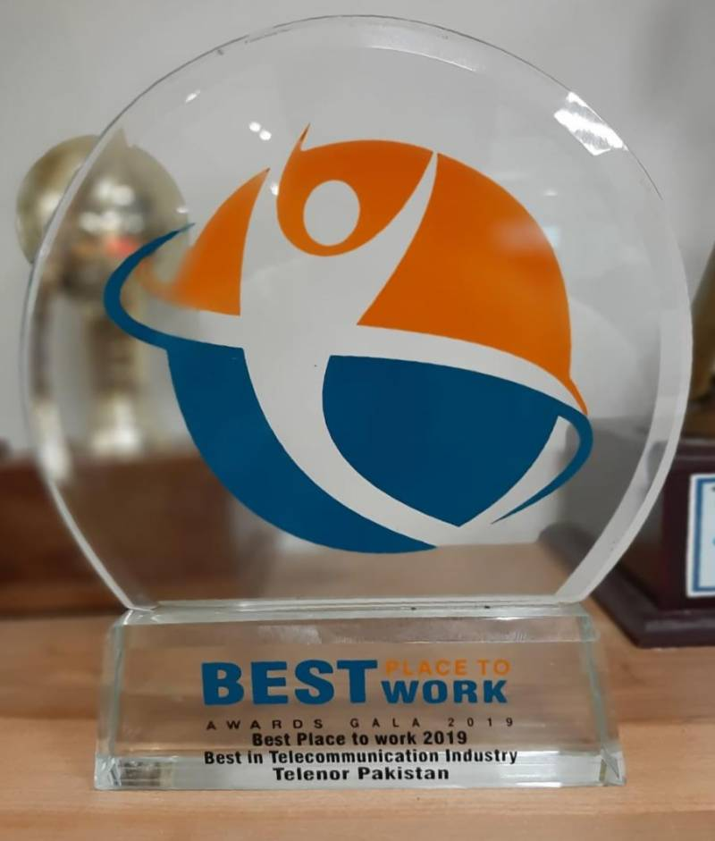 Telenor Pakistan wins PSHRM's 'Best Place to Work in Telecom' award 2019
