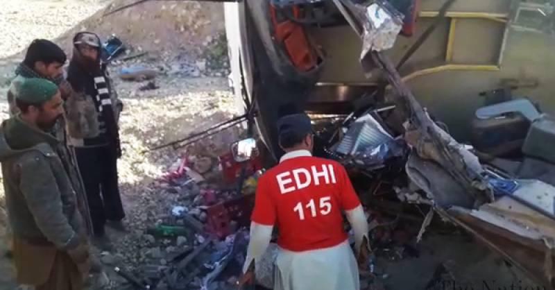 At least 9 killed in Makran Coastal Highway bus crash