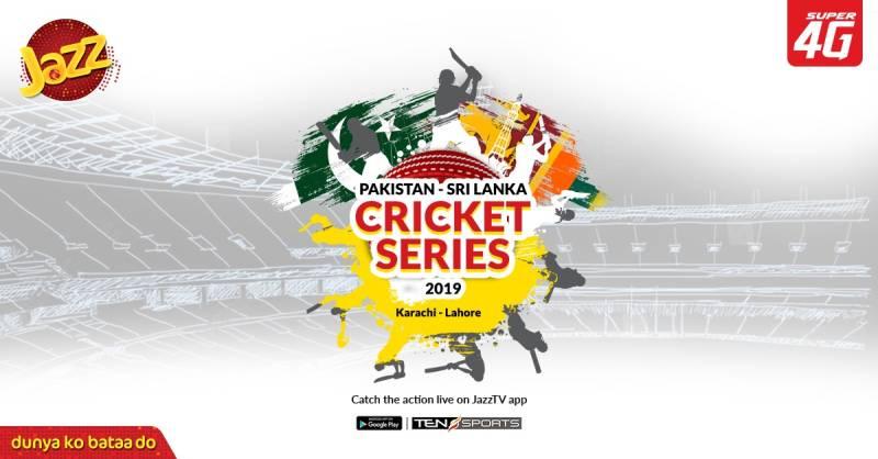 Jazz TV streaming Pak-Sri Lanka 2019 series for cricket fanatics