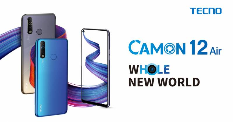 A closer look at TECNO's Camon 12 Air with punch-hole screen technology