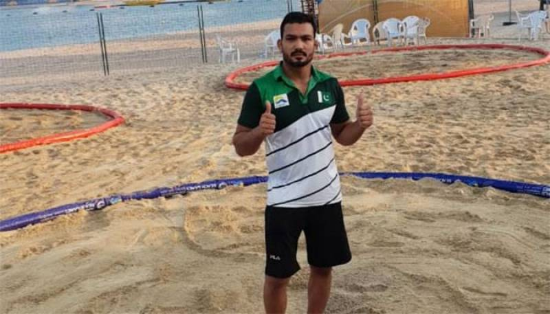 Pakistan world beach games gold medal winner Inam returns home