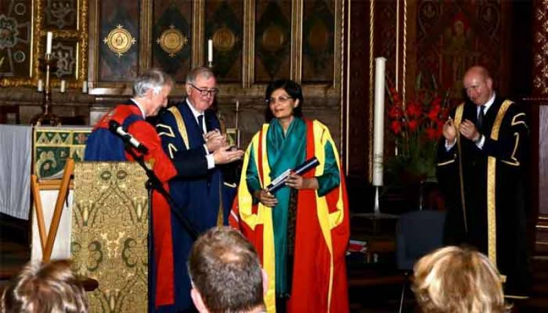 Pakistan's Dr Sania Nishtar conferred honorary degree by King's College London