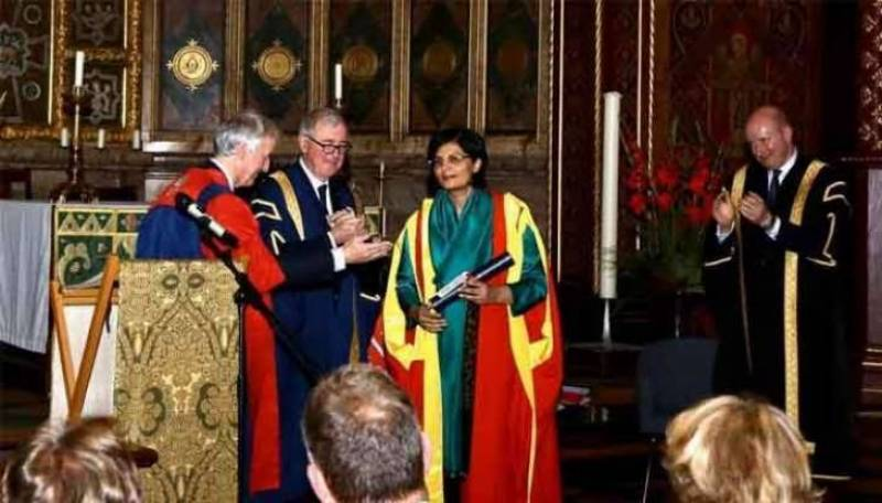 King's College London confers Honorary Degree on Dr Sania Nishtar