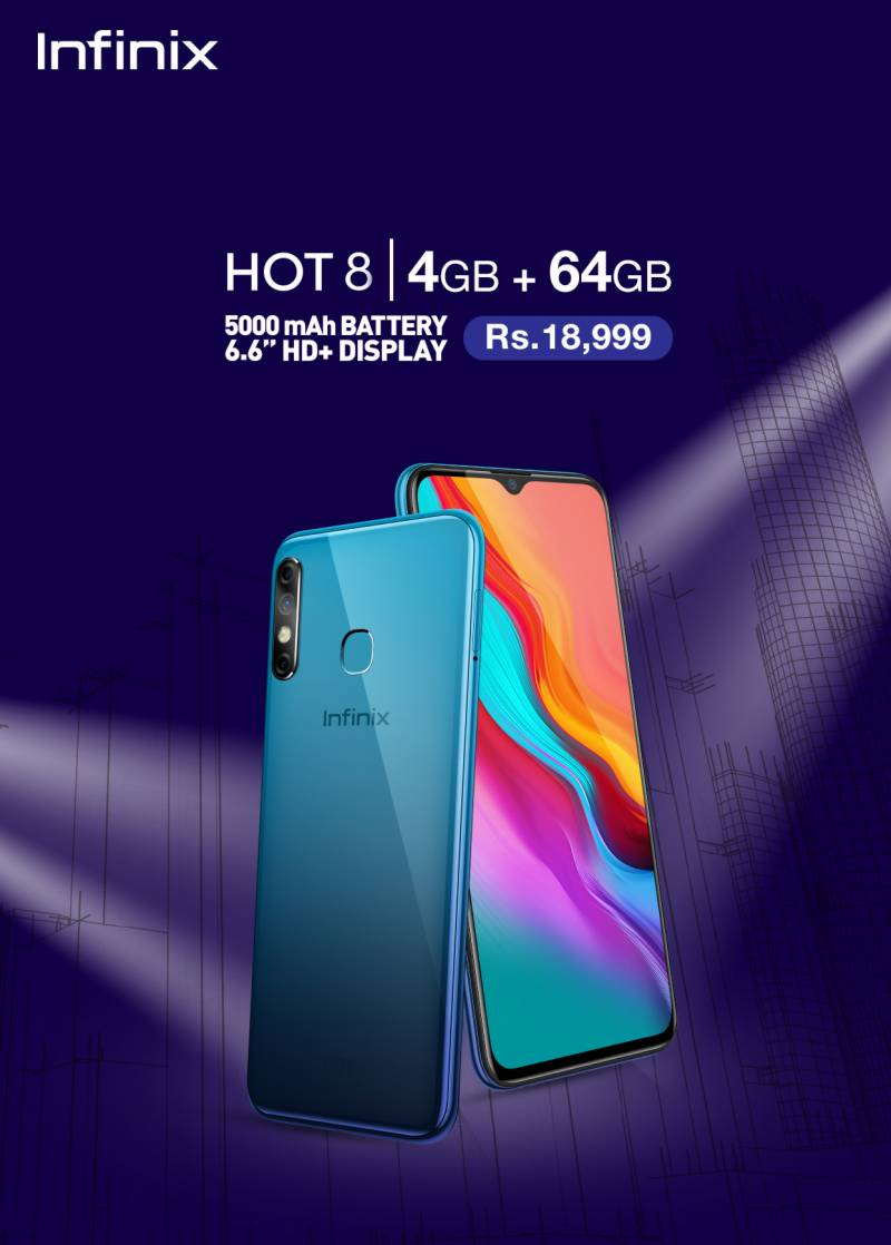 Infinix Hot 8 4+64GB variant goes on sale in Pakistan: price, specifications