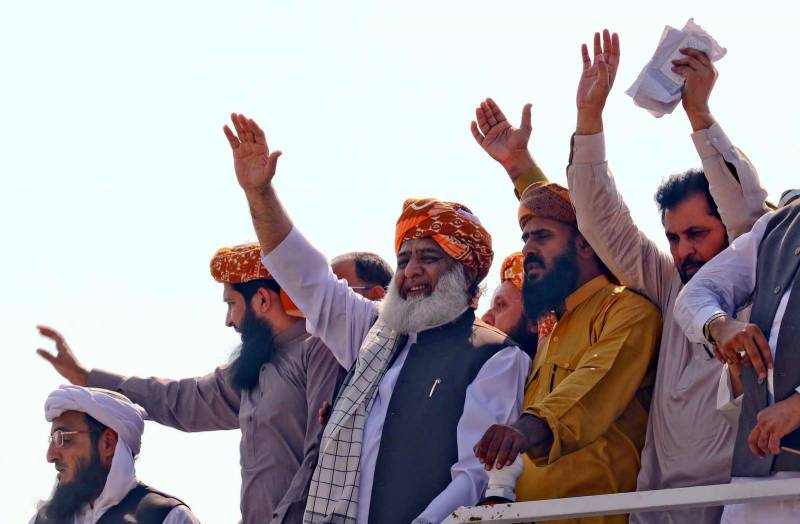 JUI-F's Azadi March enters Islamabad to take on PM Imran