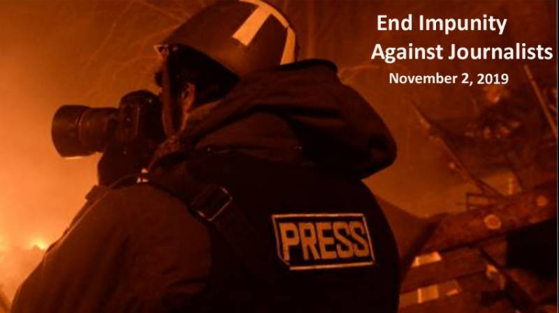 Int'l Day to End Impunity against Journalists being observed across the world today