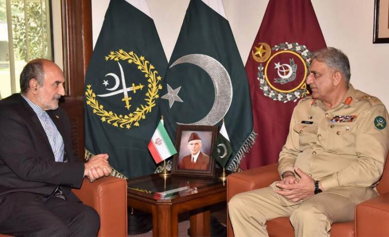 Outgoing Iranian envoy meets COAS Bajwa, hails Pakistan Army's efforts for peace