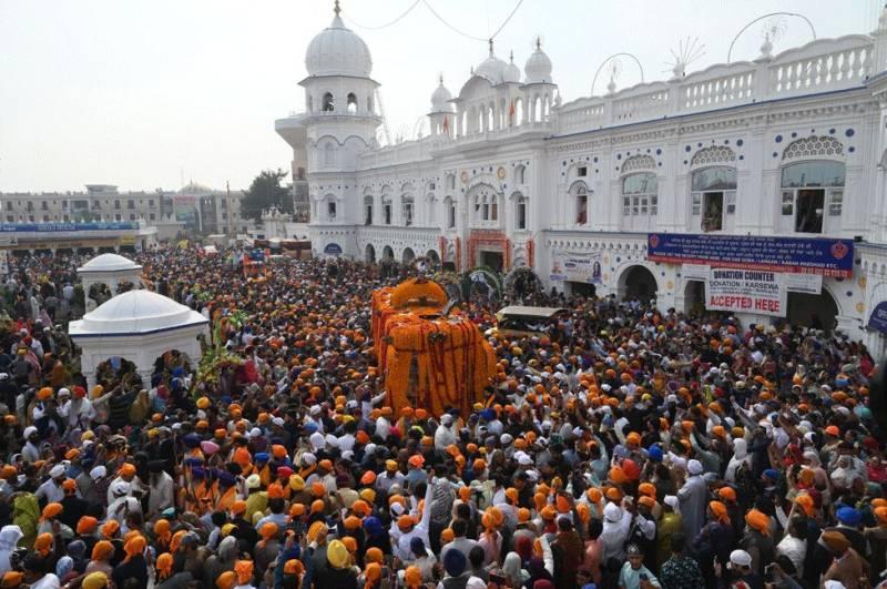 Grand celebrations inside the Janam Asthan Gurdwara in Nankana Sahib