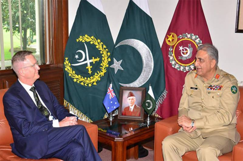 COAS Bajwa, Australian High Commissioner discuss matters of mutual interest