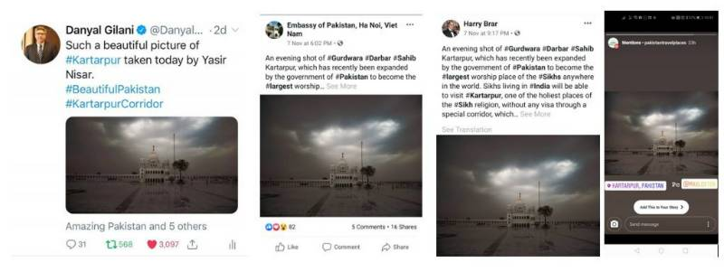 The viral image of Kartarpur shared by PM Imran Khan HIMSELF