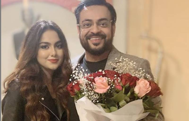‎Thanks my love for coming in my life: Aamir Liaquat says to wife on first wedding anniversary