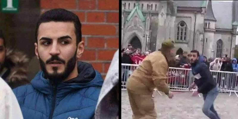 Social media praises man who stopped extremist from blaspheming the Quran in Norway