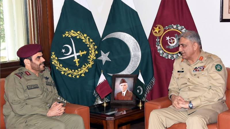 Commander Qatar Emiri Guard lauds Pakistan Army's professionalism in meeting withe COAS Bajwa