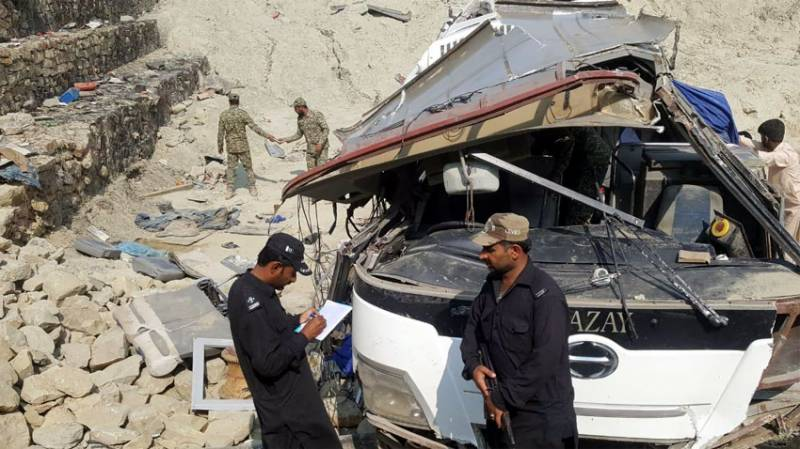 Nine dead after bus carrying Pakistan Navy personnel falls into ditch in Balochistan
