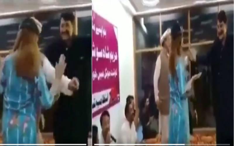 Dancing video of MPA Amin Khan with Hareem Shah goes viral