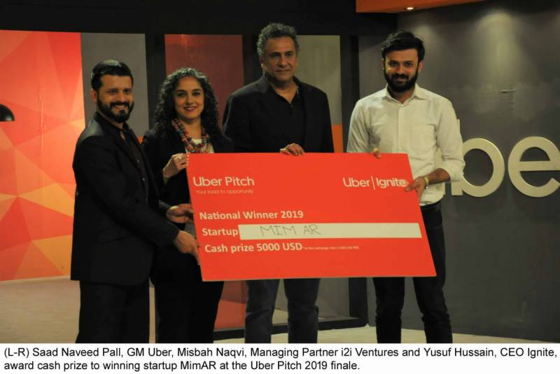 MimAR wins national entrepreneurs contest at Uber Pitch 2019