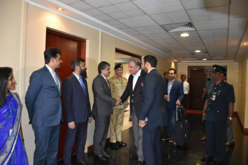 FM Qureshi in Colombo on two-day official visit
