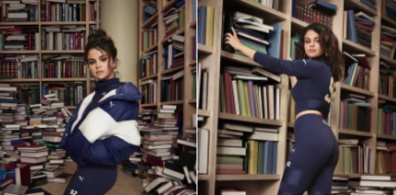 Twitterati outraged after Selena Gomez stands on books for latest ad campaign