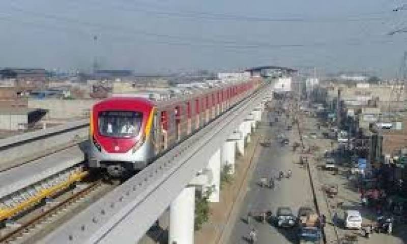 Orange Line Metro Train's test run on Dec 10